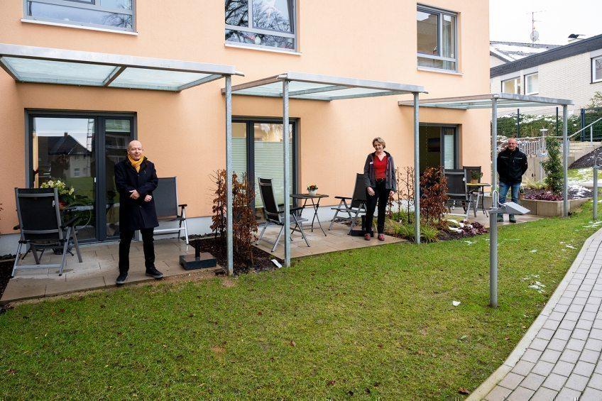 EVK Terrassendächer für das Hospiz gespendet