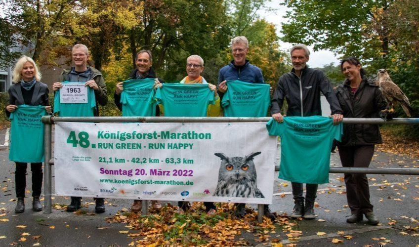 Köfo-Marathon Fotoshooting an der neuen Startlinie