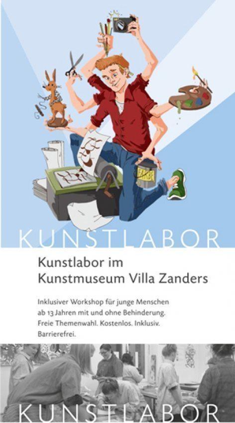 Kunstmuseum VIlla Zanders Das Kunstlabor startet wieder! Nächster Termin: Samstag, 10.07.2021, 14:00 - 17:30 Uhr