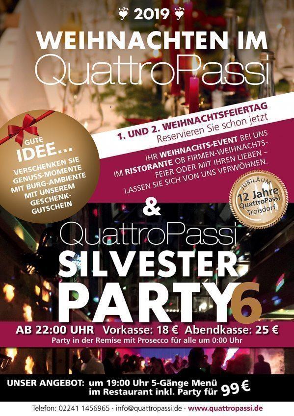 Weihnachten und Silvester im Burg Ambiente bei Quattro Passi in Troisdorf
